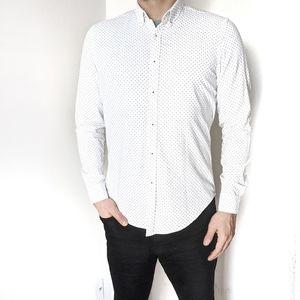 DENIM & FLOWER White Button Down Shirt